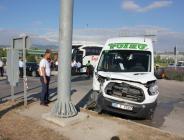 Amasya'da otobüsle minibüs çarpıştı: 3 yaralı
