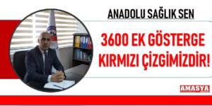 3600 EK GÖSTERGE KIRMIZI ÇİZGİMİZDİR!