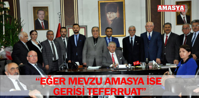 """EĞER MEVZU AMASYA İSE GERİSİ TEFERRUAT"""