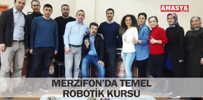 MERZİFON'DA TEMEL ROBOTİK KURSU