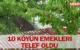 10 KÖYÜN EMEKLERİ TELEF OLDU