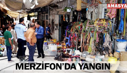 MERZİFON'DA YANGIN