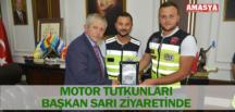 MOTOR TUTKUNLARI BAŞKAN SARI ZİYARETİNDE