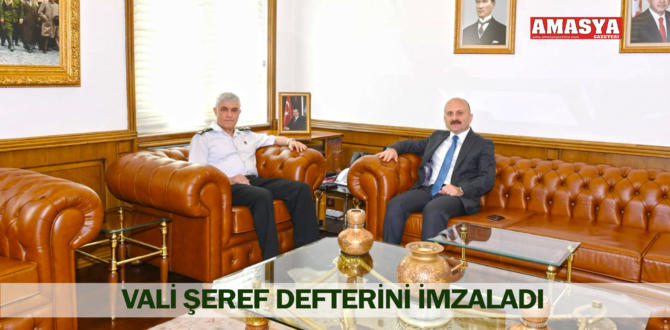 VALİ ŞEREF DEFTERİNİ İMZALADI