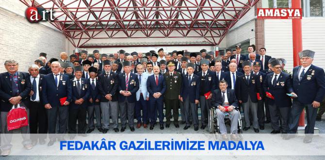 FEDAKÂR GAZİLERİMİZE MADALYA