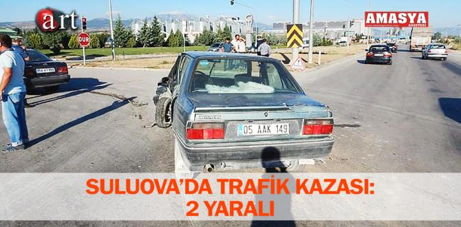 SULUOVA'DA TRAFİK KAZASI: 2 YARALI