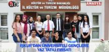 İŞKUR'DAN ÜNİVERSİTELİ GENÇLERE YAZ TATİLİ FIRSATI