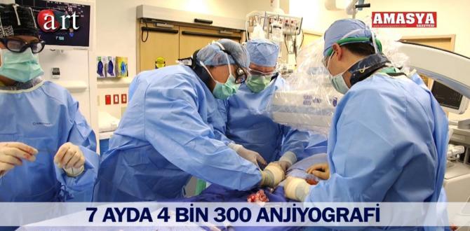 7 AYDA 4 BİN 300 ANJİYOGRAFİ