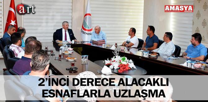 2'İNCİ DERECE ALACAKLI ESNAFLARLA UZLAŞMA