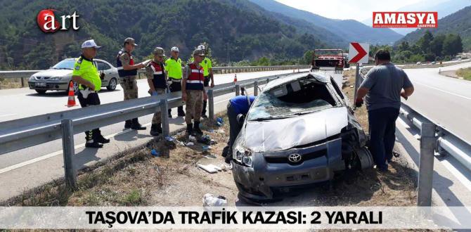 TAŞOVA'DA TRAFİK KAZASI: 2 YARALI