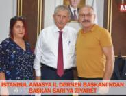İSTANBUL AMASYA İL DERNEK BAŞKANI'NDAN BAŞKAN SARI'YA ZİYARET