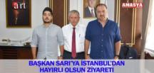 BAŞKAN SARI'YA İSTANBUL'DAN HAYIRLI OLSUN ZİYARETİ
