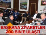 BAŞKANA ZİYARETLER 200 BİN'E ULAŞTI
