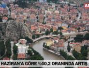 HAZİRAN'A GÖRE %40,2 ORANINDA ARTIŞ