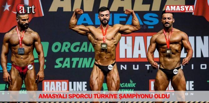 Amasyalı sporcu Türkiye Şampiyonu oldu