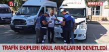 TRAFİK EKİPLERİ OKUL ARAÇLARINI DENETLEDİ