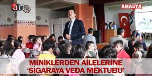 MİNİKLERDEN AİLELERİNE 'SİGARAYA VEDA MEKTUBU'