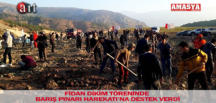 FİDAN DİKİM TÖRENİNDE BARIŞ PINARI HAREKATI'NA DESTEK VERDİ