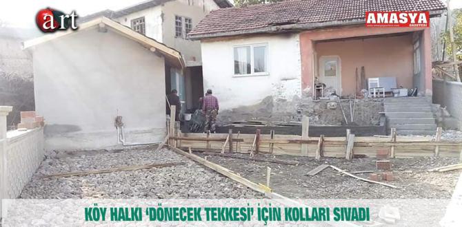 KÖY HALKI 'DÖNECEK TEKKESİ' İÇİN KOLLARI SIVADI