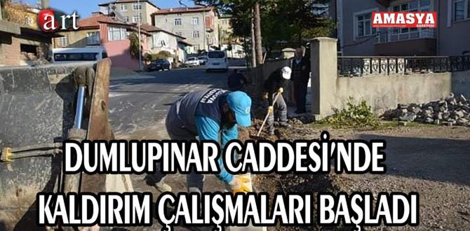DUMLUPINAR CADDESİ'NDE KALDIRIM ÇALIŞMALARI BAŞLADI