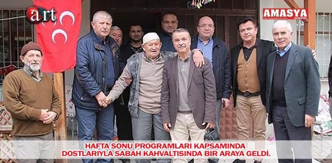 HAFTA SONU PROGRAMLARI KAPSAMINDA DOSTLARIYLA SABAH KAHVALTISINDA BİR ARAYA GELDİ.  k