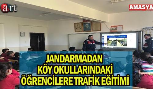 Jandarmadan köy okullarındaki öğrencilere trafik eğitimi