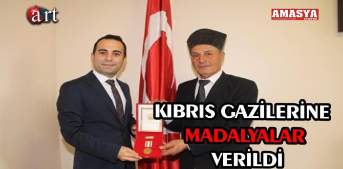 KIBRIS GAZİLERİNE MADALYALAR VERİLDİ