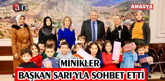 MİNİKLER BAŞKAN SARI'YLA SOHBET ETTİ