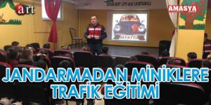 JANDARMADAN MİNİKLERE TRAFİK EĞİTİMİ