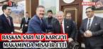 BAŞKAN SARI ALP KARGI'YI MAKAMINDA MİSAFİR ETTİ
