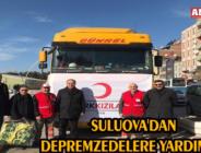 SULUOVA'DAN DEPREMZEDELERE YARDIM ELİ