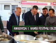 AMASYA'DA 1. HAMSİ FESTİVALİ DÜZENLENDİ