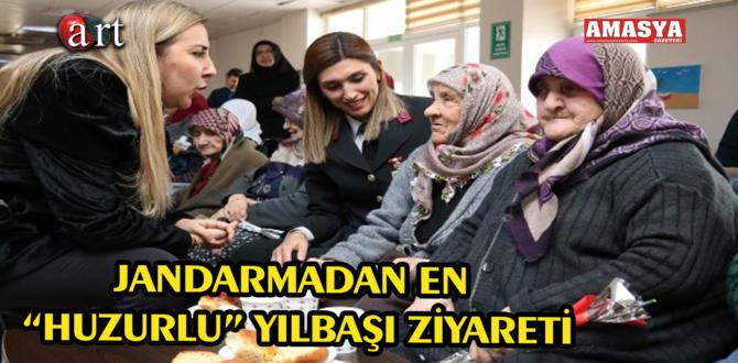 """JANDARMADAN EN """"HUZURLU"""" YILBAŞI ZİYARETİ"""