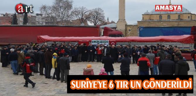 SURİYE'YE 6 TIR UN GÖNDERİLDİ