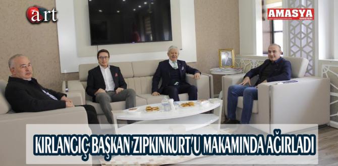 KIRLANGIÇ BAŞKAN ZIPKINKURT'U MAKAMINDA AĞIRLADI