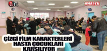ÇİZGİ FİLM KARAKTERLERİ HASTA ÇOCUKLARI KARŞILIYOR