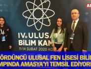 DÖRDÜNCÜ ULUSAL FEN LİSESİ BİLİM KAMPINDA AMASYA'YI TEMSİL EDİYORLAR