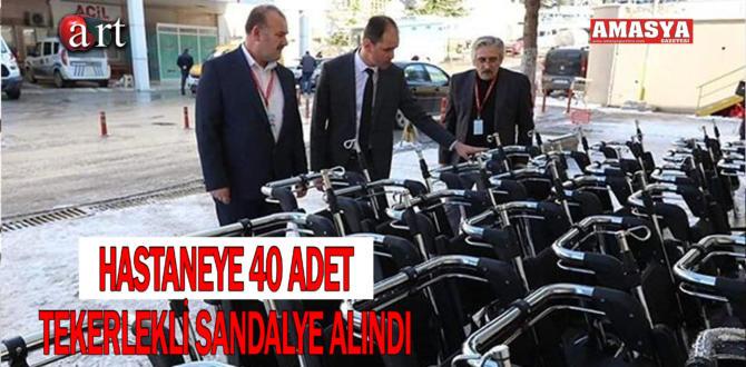 HASTANEYE 40 ADET TEKERLEKLİ SANDALYE ALINDI