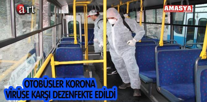 OTOBÜSLER KORONA VİRÜSE KARŞI DEZENFEKTE EDİLDİ