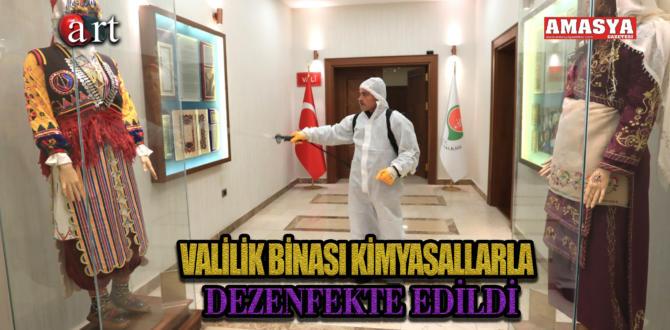 VALİLİK BİNASI KİMYASALLARLA DEZENFEKTE EDİLDİ