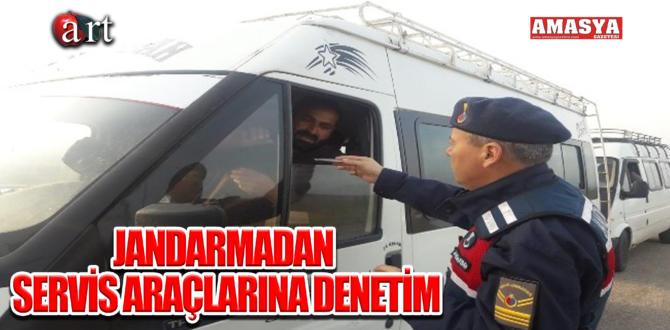 JANDARMADAN SERVİS ARAÇLARINA DENETİM