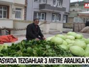 AMASYA'DA TEZGAHLAR 3 METRE ARALIKLA KURULDU