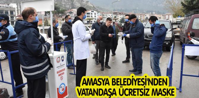 AMASYA BELEDİYESİ'NDEN VATANDAŞA ÜCRETSİZ MASKE