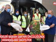 RAMAZAN PİDELERİ BAŞKAN SARI'NIN ÖNCÜLÜĞÜNDE VATANDAŞLARA DAĞITILIYOR