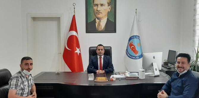KASIM ALPER ÖZDEMİR KAYMAKAMIZ ÇELİK'İ ZİYARET ETTİ