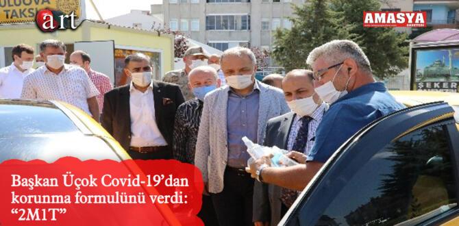 """Başkan Üçok Covid-19'dan korunma formulünü verdi: """"2M1T"""""""