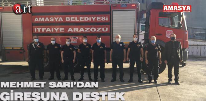 Mehmet Sarı'dan Giresun'a Destek