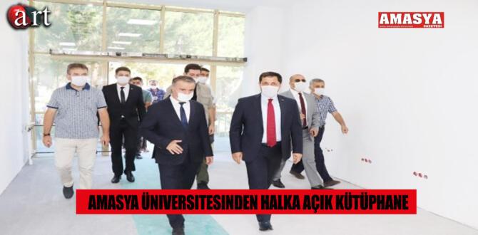 Amasya Üniversitesinden Halka Açık Kütüphane