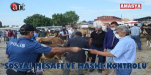 SOSYAL MESAFE VE MASKE KONTROLÜ!