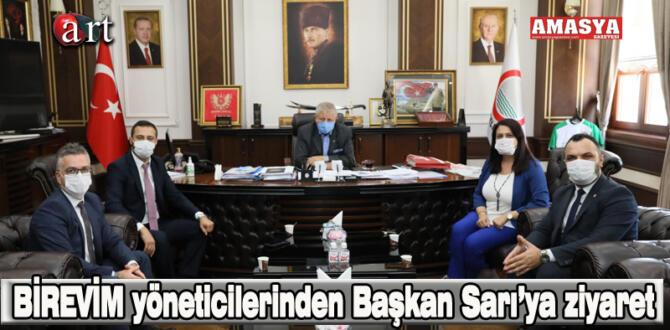 BİREVİM yöneticilerinden Başkan Sarı'ya ziyaret